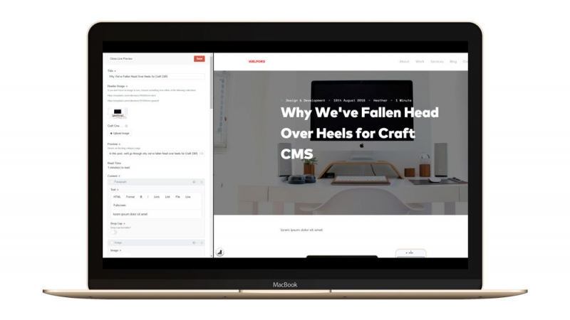 Craft CMS Live Preview