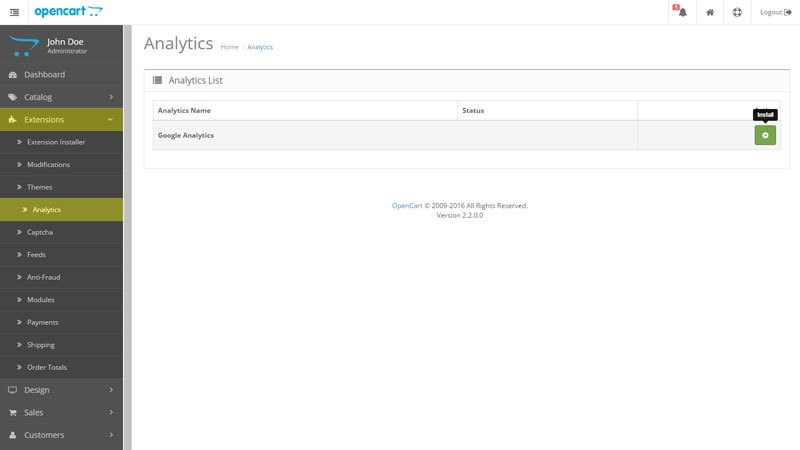 Setting up Analytics Tracking in OpenCart
