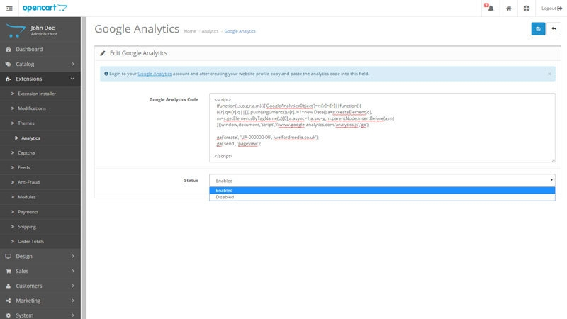 How to Add Analytics to OpenCart